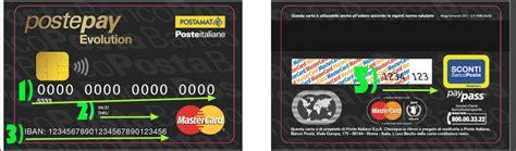 codice banco posta postepay evolution la carta di credito di poste con iban