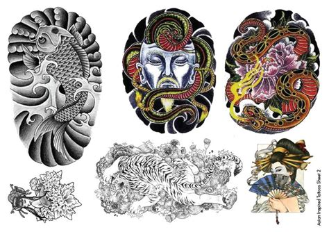 japanese inspired tattoo designs temporary tattoos asian inspired