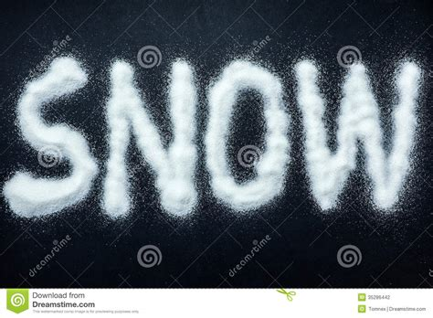 up letter with snow snow stock photography image 35286442