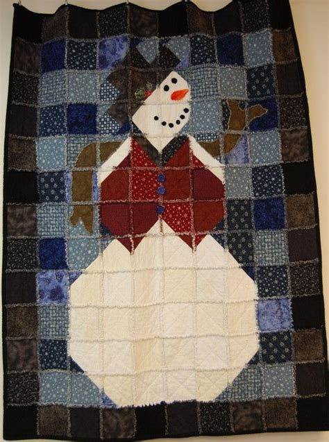 Snowman Rag Quilt Pattern by 25 Best Ideas About Snowman Quilt On Winter