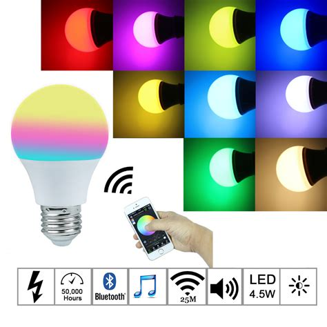led smart light bulb 2016new magic blue 4 5w e27 rgbw led light bulb bluetooth