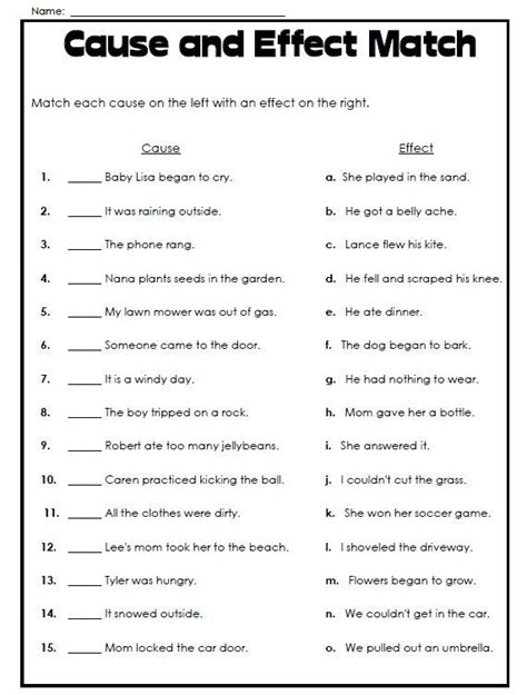 cause and effect essay sles free 51 best cause and effect images on teaching
