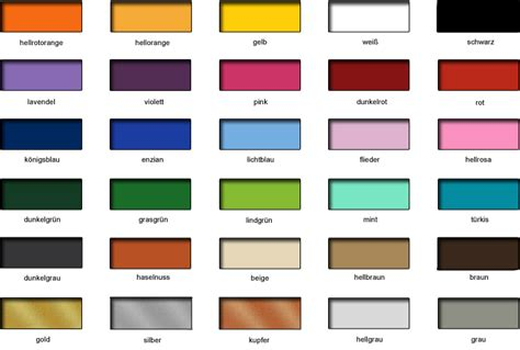 Farben Wand by Wandtattoo Farben Bei Wandtattoo Farbtabelle