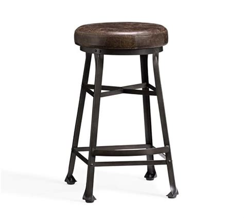 Bar Stool Pottery Barn by Decker Leather Seat Barstool Pottery Barn