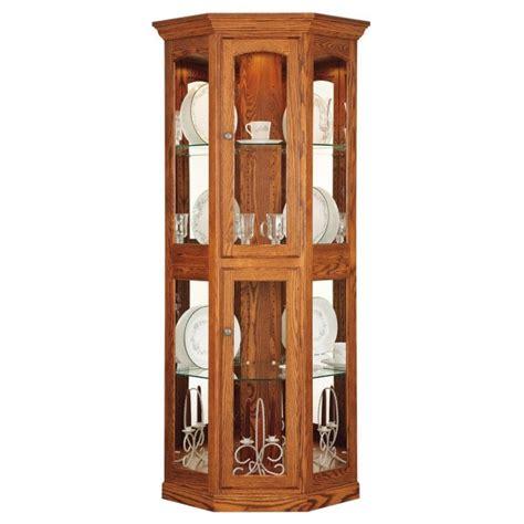 small corner curio cabinet portland small corner curio amish made curio cabinet