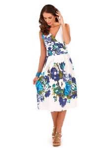 womens dress 100 cotton floral summer dress mid knee
