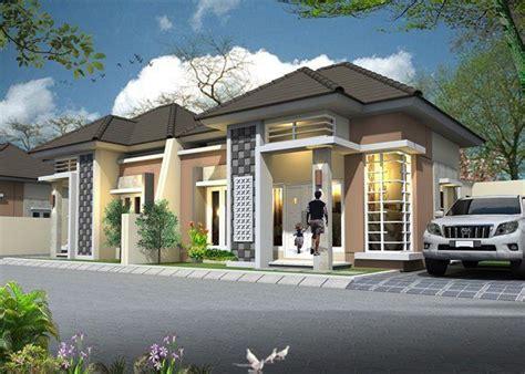 model rumah minimalis sederhana  lantai tampak depan  desain teras batu alam desain