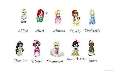 disney names all disney princess names list and pictures images
