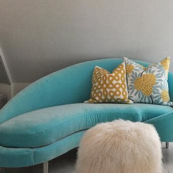 turquoise blue chaise lounge blue tufted chaise transitional living room brandon