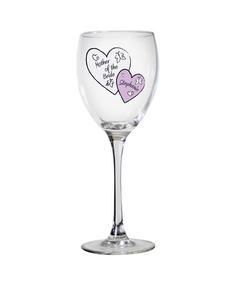 personalised wedding glasses personalised butterfly hearts wedding wine glass just
