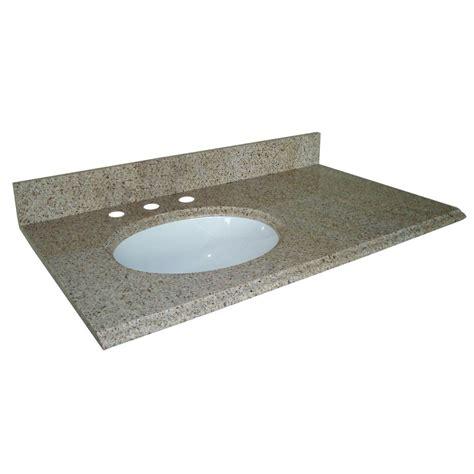 37 inch vanity top with sink pegasus 37 inch w x 22 inch d granite vanity top in beige