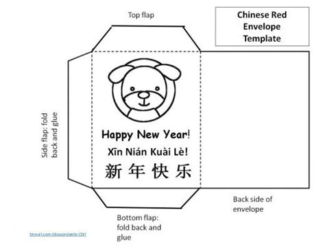 new year crafts envelope template printable envelopes bookmarks and lanterns for year of