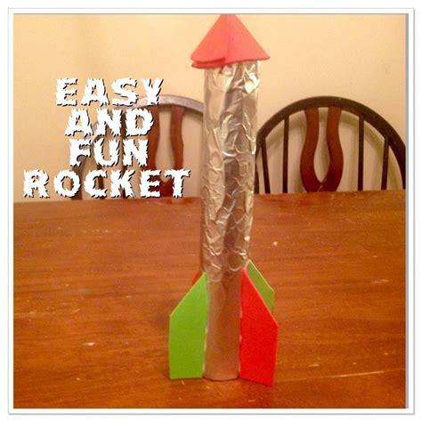 How To Make A Paper Rocket Ship - guest post easy rocket ship craft for only
