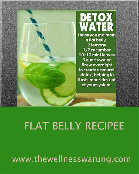 Detox Drink Recipe For Flat Belly by Pin By The Wellness Warung On Green Smoothies And Juices
