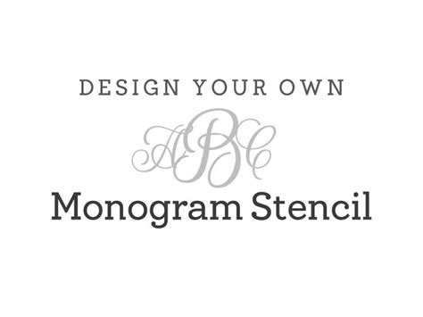 8 best images of large monogram stencils printable free