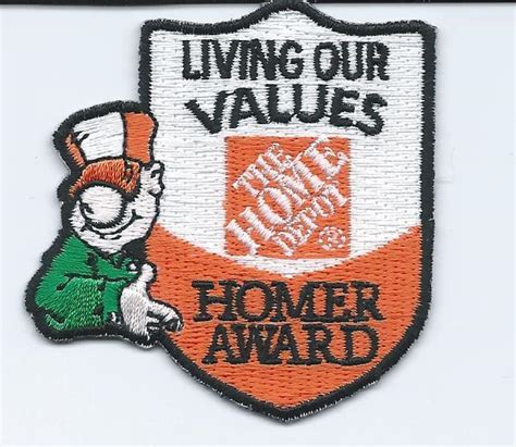 List Of Gift Cards Sold At Home Depot - lmh patch badge home depot uniform homer award living our values ebay