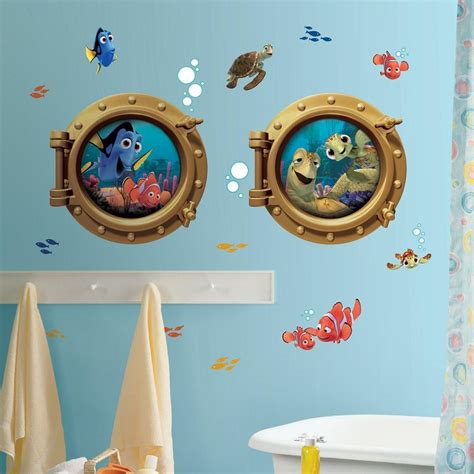 nemo bathroom accessories new giant finding nemo wall decals kids bathroom stickers