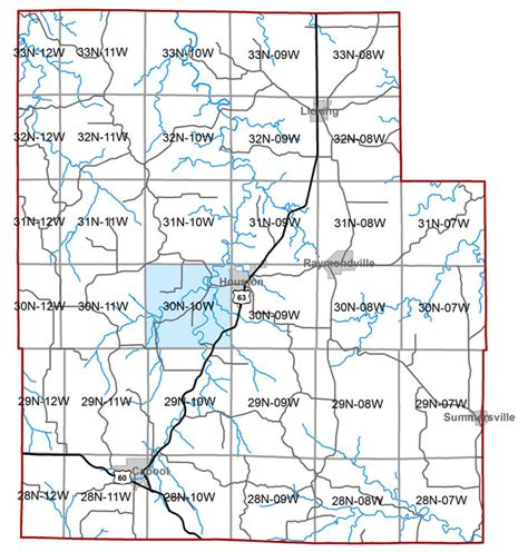 texas county missouri map missouri geological survey