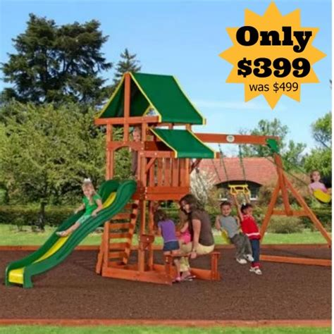 backyard discovery tucson cedar wooden swing set now only 399