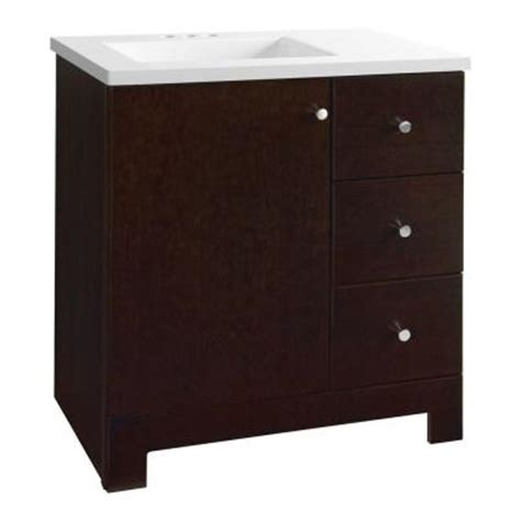 glacier bay bathroom vanity glacier bay ventura 30 1 2 in vanity in java with