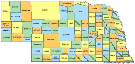 Of Ne Nebraska County Map Ne Counties Map Of Nebraska