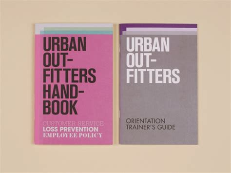 employee handbook layout design urban outfitters new employee handbooks security booklet