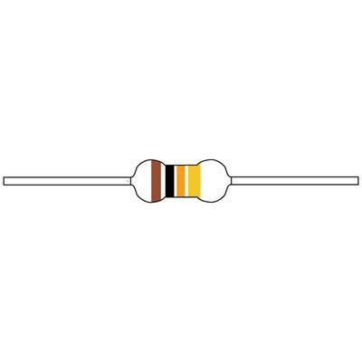 cf1 2w104jrc jameco valuepro resistor carbon 100k ohm 1 2 watt 5 passive components