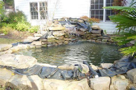 superb koi pond liner 2 how to build a koi pond waterfall bloggerluv com