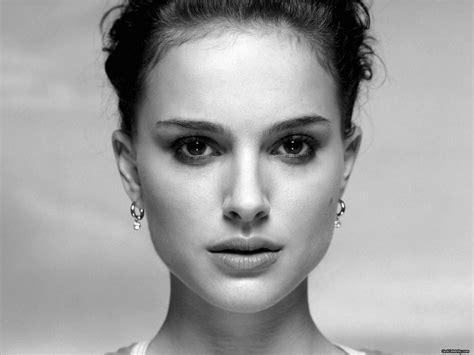 black and white wallpaper of actress women actress natalie portman grayscale monochrome faces