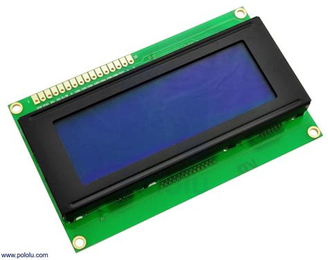 Lcd Karakter Character 20 X 4 Blue Backlight 20x4 Biru 2004 20x4 character lcd mit led backlight parallel interface wei 223 auf blau lcd displays exp tech