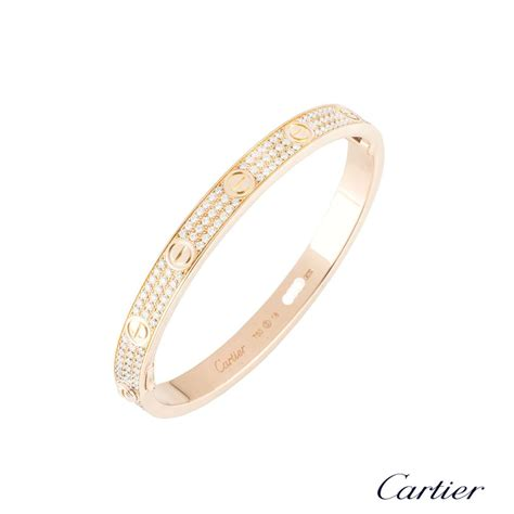 Cartier Love Bracelet Size 18 N6036918   Rich Diamonds Of Bond Street