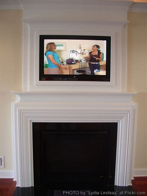 Tv Above Fireplace Mantel by Corner Fireplace Mantel With Tv Above Woodworking