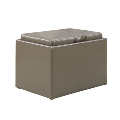 gray storage ottoman accent storage ottoman grey 143523gy