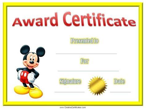 excel certificates awards printable math good character award gold