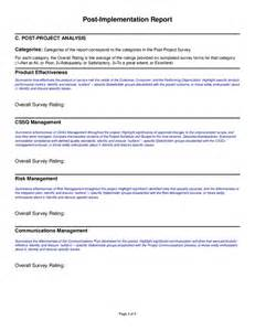 post project report template post implementation report template hashdoc