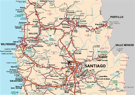 santiago chile on world map maps of santiago