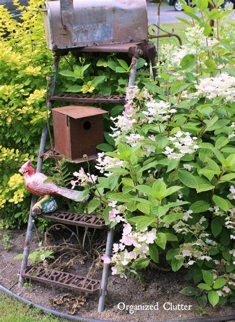 Wooden Ladder Garden Decor Garden Decor Ideas From Junk Hometalk