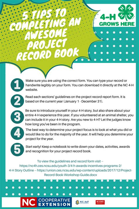 Union County Records Nc Five Tips To Completing An Awesome Project Record Book