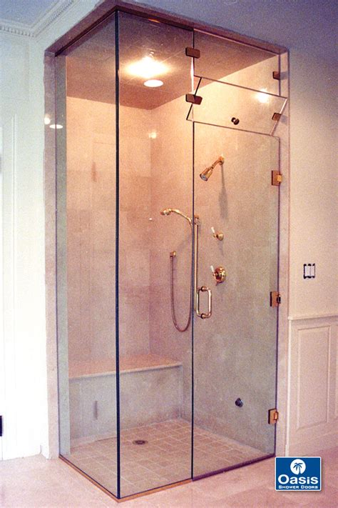 Frameless Steam Shower Doors Shower Door Tub Enclosures By Oasis Shower Doors Boston Ma