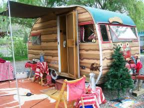 Log Home Kit Floor Plans glamping at swiftwater rv park in vintage trailers