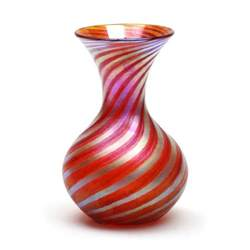 vizzusi glass vase medium bulb murano stripe vase in