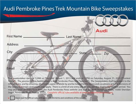Cycling Sweepstakes - audi pembroke pines new audi dealership in pembroke