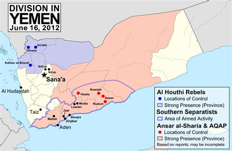 map of yemen yemen conflict map update 3 political geography now