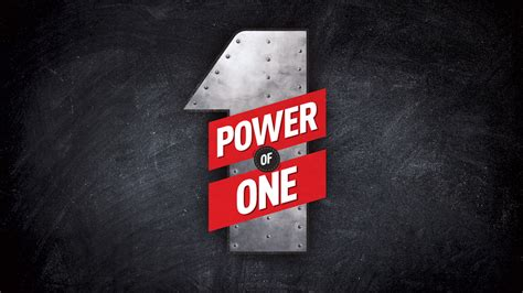 The Power Of One power of one church sermon series ideas