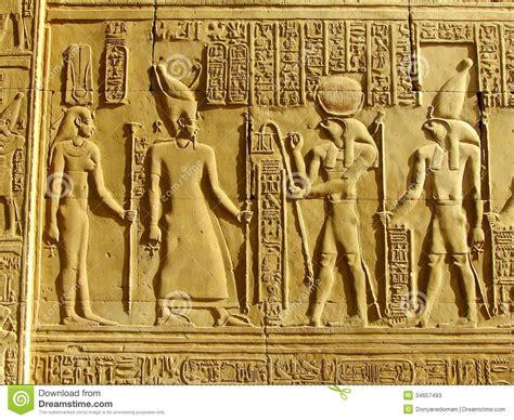 Auf Der Wand by Alte Hieroglyphen Auf Der Wand Tempel Kom Ombo