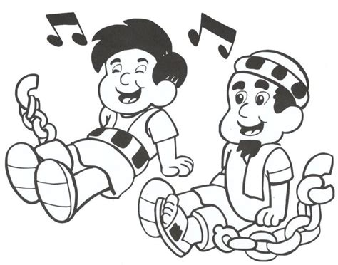 Coloring Page Paul And Silas In Jail Coloring Home Paul And Silas Coloring Page