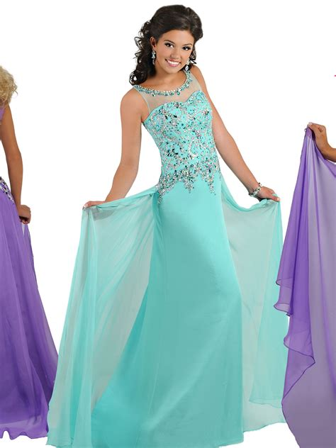 Pageant Dresses by Ritzee Tweens T812 Chiffon A Line Pageant Dress