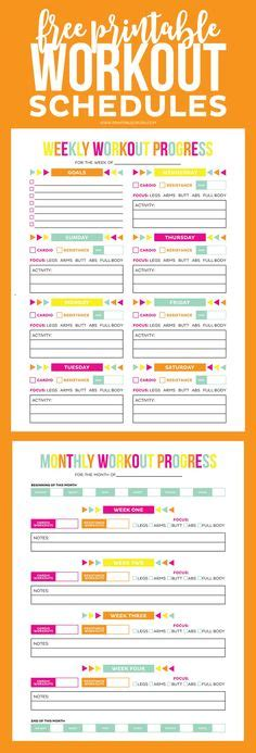 3 Free Printables To Help You Smash Your 2017 Goals 1000 Ideas About Workout Schedule On Weekly Workout Schedule T25 Workout And P90x