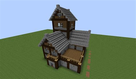 minecraft cool house tutorial beautiful medieval house tutorial creative mode minecraft java edition