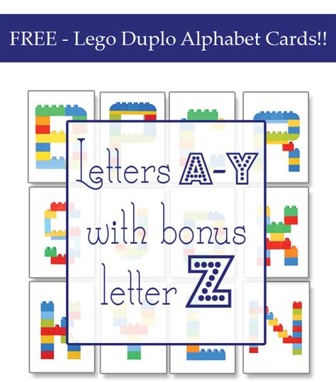 free lego printable letters lego duplo alphabet cards 187 one beautiful home